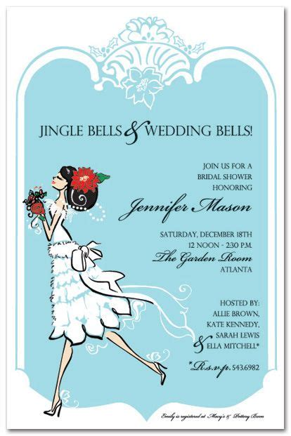 ornament bridal shower invitation black hair bridal shower invitations merry 18340 wedding shower