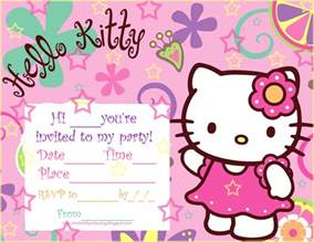 kity party pics kitty printable birthday party invitations free download