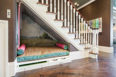 Under The Stairs Dog Bed Contemporary Entrance Foyer