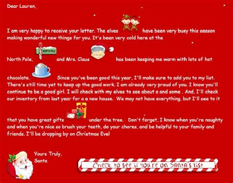 Response Letter From Santa how do i email santa claus a letter 2015 can i send