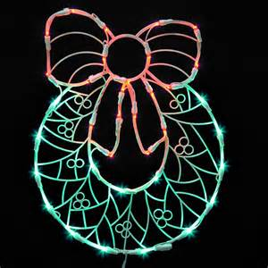 17 quot lighted led wreath with bow christmas window