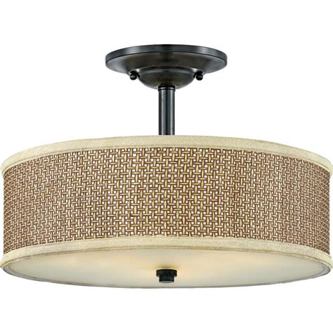 Quoizel Ceiling Light Quoizel Ze1717k Mystic Black Zen 3 Light 17 Quot Wide Semi Flush Ceiling Fixture Lightingdirect