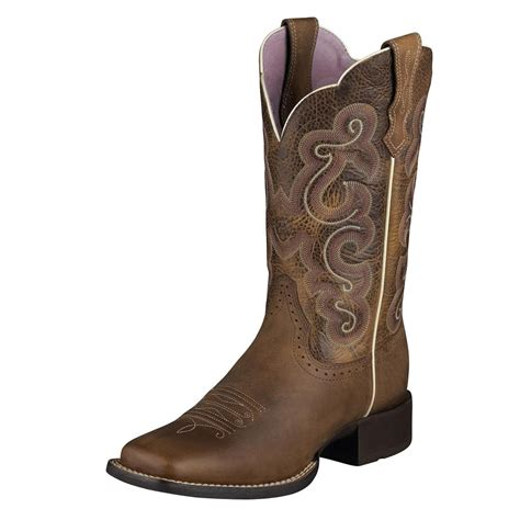 toe boots womens ariat womens quickdraw square toe cowboy western boot