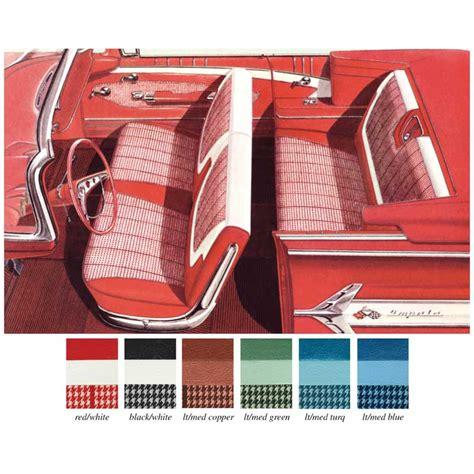 Interior Fabrics 1960 by 1960 Chevrolet Impala Parts Interior Soft Goods Seat