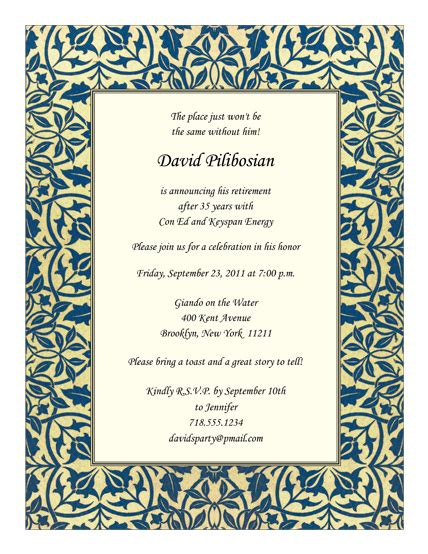 word templates for retirement invitations retirement party invitations templates gangcraft net
