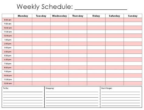 printable hourly daily calendar template productivity
