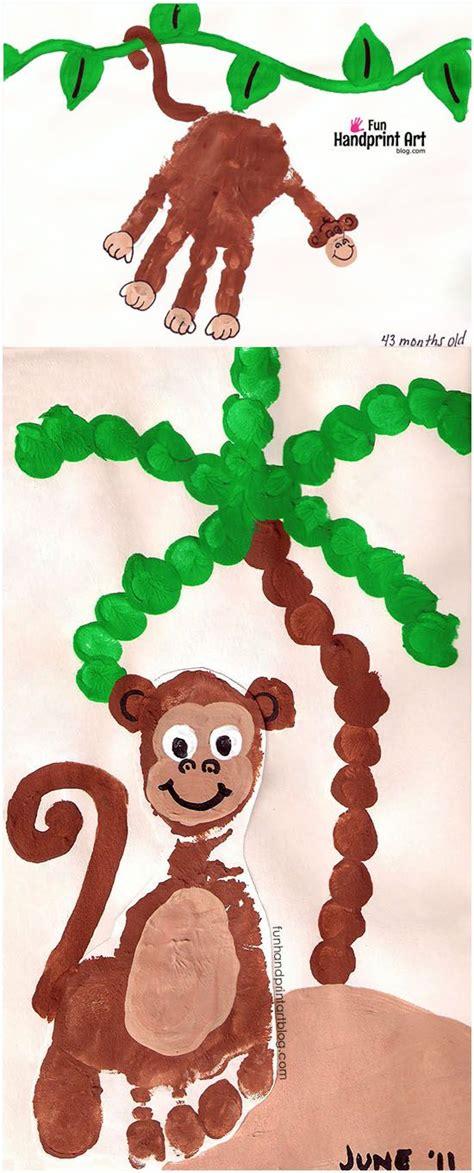 new year monkey handprint 399 best handprint animals crafts for images on