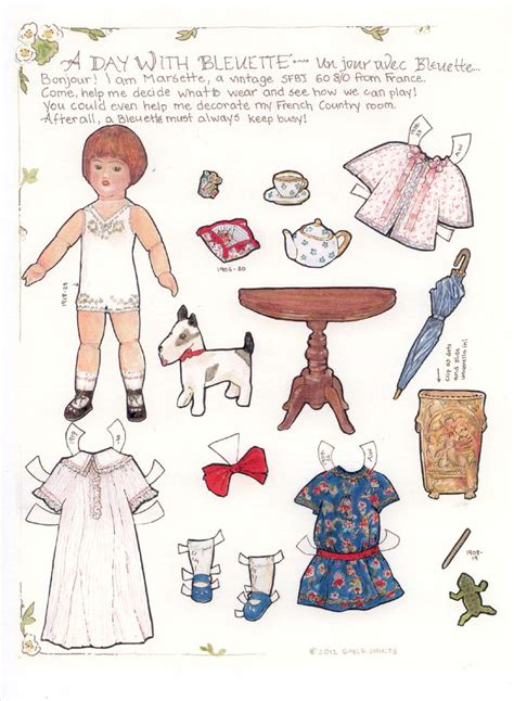 A Paper Doll - bleuette a paper doll marges8 s