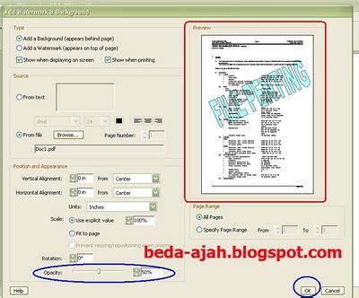 cara membuat watermark di adobe reader tutorial pdf membuat background label stempel di file