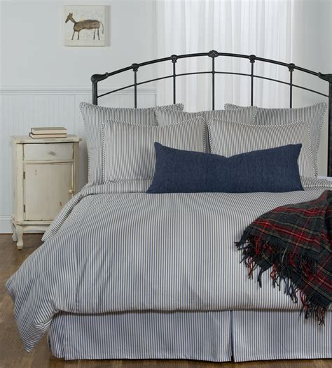 blue ticking comforter ticking stripe duvet cover navy blue black grey brown