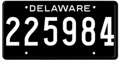 De Vanity Plates by 1952 Delaware State License Plate Embossed With Your Custom Number