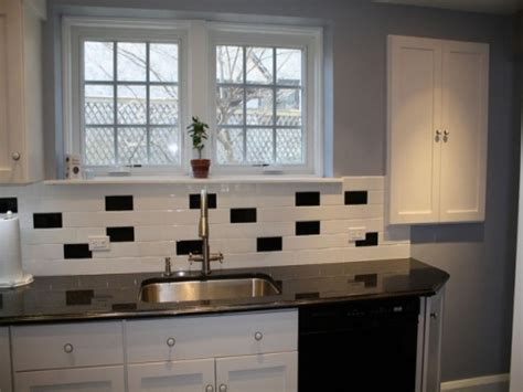 black and white tile designs for kitchens classic black and white subway tile backsplash ideas for