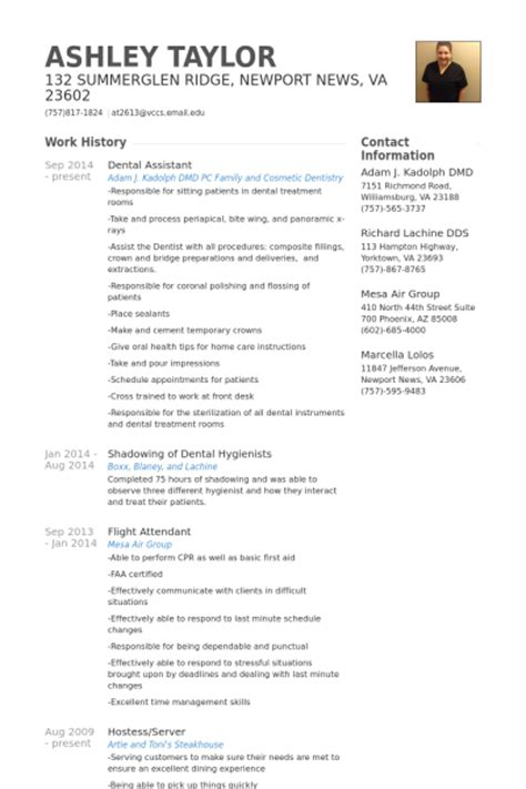 Example Resume: March 2016