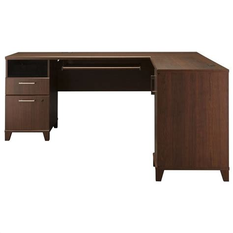 L Shaped Cherry Desk Bush Achieve L Shaped Desk In Sweet Cherry Pr67610k