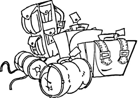 Boarding Luggage Coloring Page Supercoloring Com Travel Coloring Pages