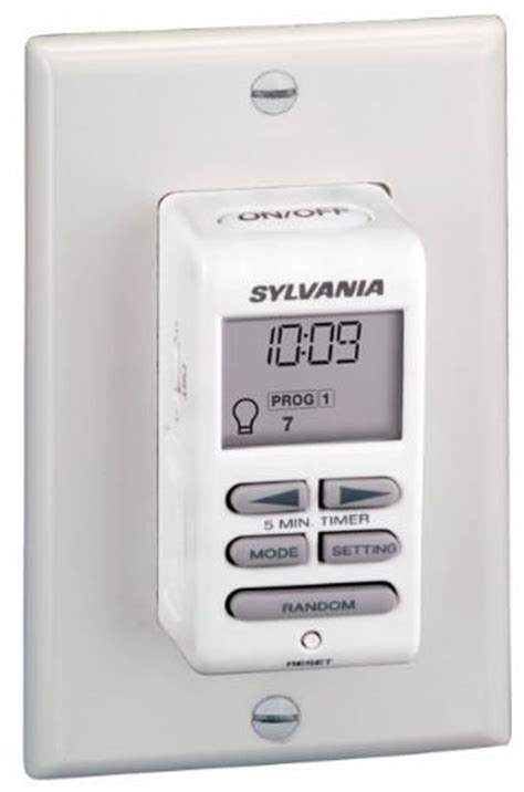 how to set a light timer sylvania zip set light switch with digital timer