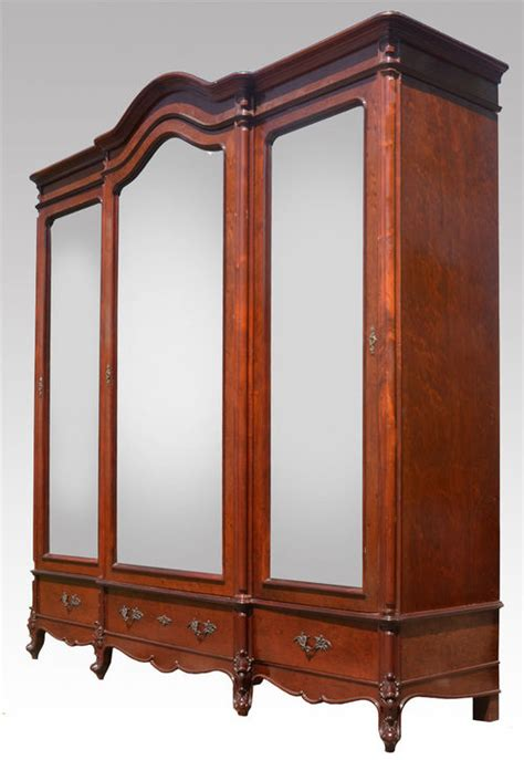 Three And An Armoire by Mahogany Three Door Armoire Wardrobe Antiques Atlas