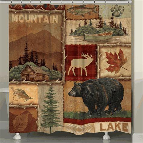 Mountain Cabin Decor Clearance by Mountain Getaway Shower Curtain