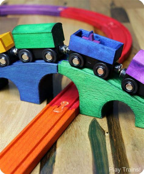 diy rainbow train set