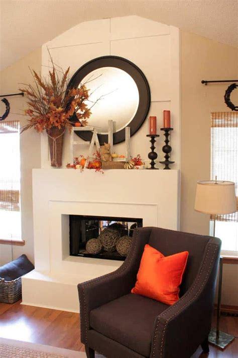 amazing fall decorating ideas   fireplace mantel