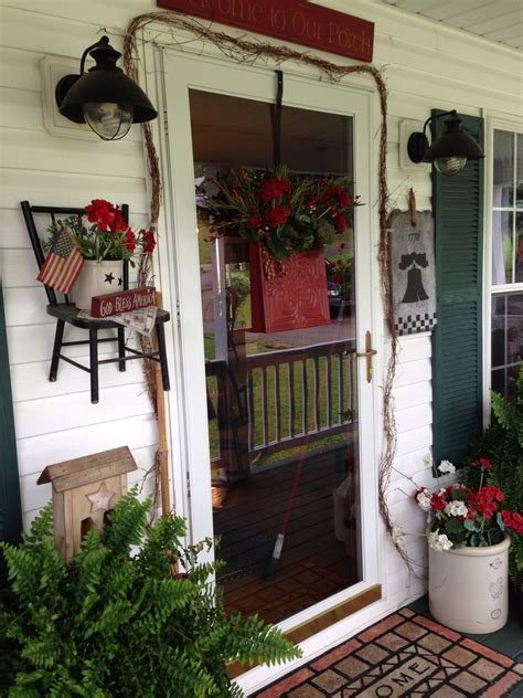 porch decorating primitive porch decor porch ideas