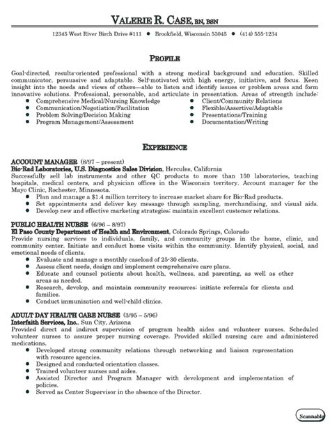 nursing resume tips cv template for practitioner