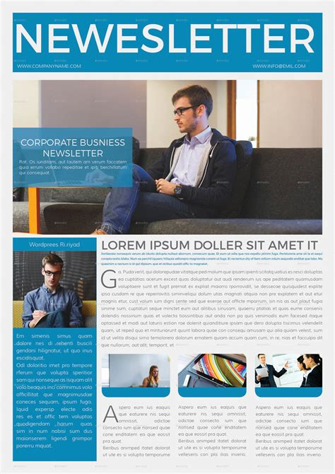 corporate business newsletter 4 page by addaxx