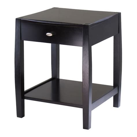 espresso accent table shop winsome wood cleo dark espresso square end table at lowes com