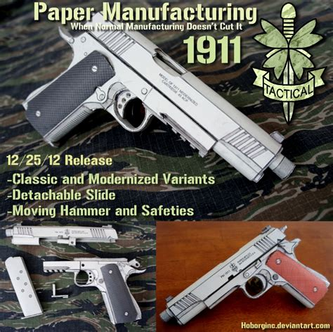 Papercraft Guns - pm 1911 papercraft by hoborginc airsoft guns tactical