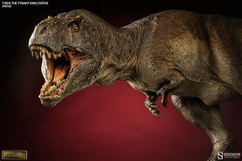 t rex dinosauria t rex the tyrant king statue by sideshow