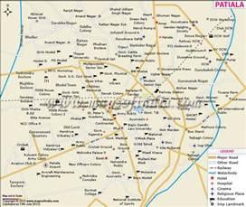 map of cities near patiala city map