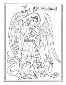 Michaelmas Feast Of St Michael The Archangel St Michael Coloring Page