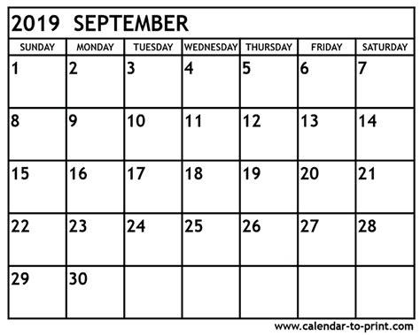 september 2019 calendar september 2019 calendar printable
