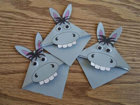 paper bag donkey pattern donkey bookmarks fun kids craft ideas pinterest