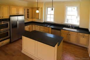 Kitchen Cabinet Colors For Black Countertops Pictures Of Kitchens Traditional White Antique