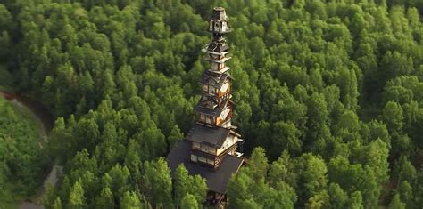 Trump Tower Chicago Floor Plans alaskan attorney builds 185 foot stacked log cabin tower