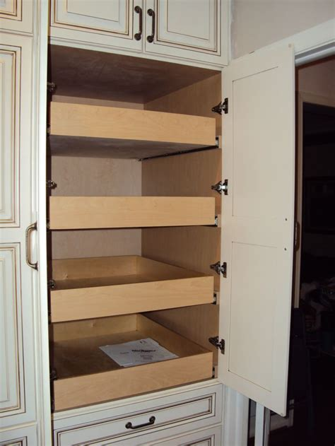 Pull Out Pantry Drawers by Custom Pantry Pull Out Drawers Kitchen Ideas