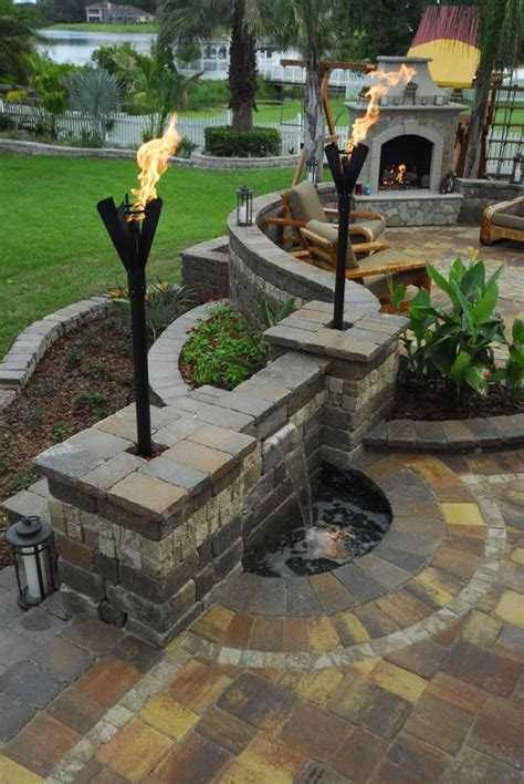 Outdoor Fireplaces And Patio On Pinterest Water Features For Patios