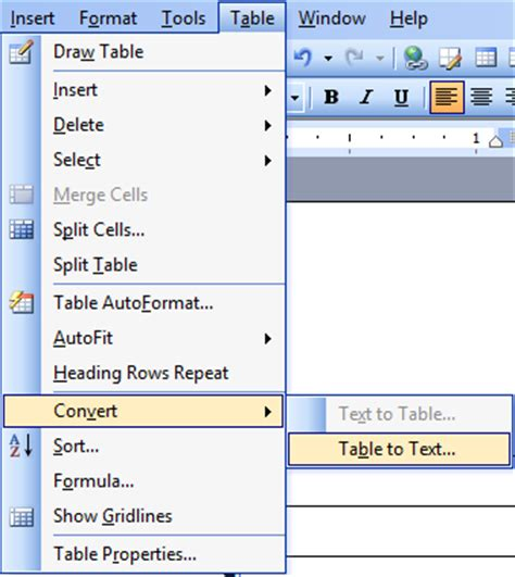 how to convert table to text in word tables for organizing and formatting in microsoft word