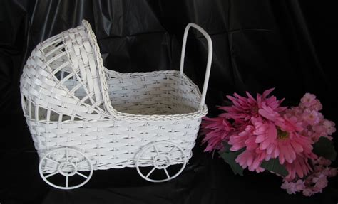 Baby Carriage Decorations by Wicker Baby Carriage Buggy Table Center Baby Shower Accessories The Baby