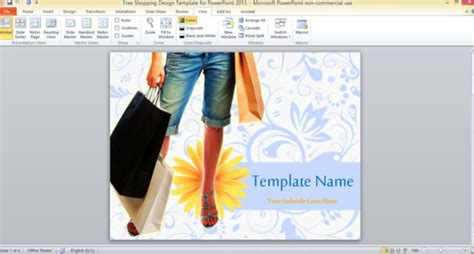 Free Shopping Design Template For Powerpoint 2013 Design Templates For Powerpoint 2013