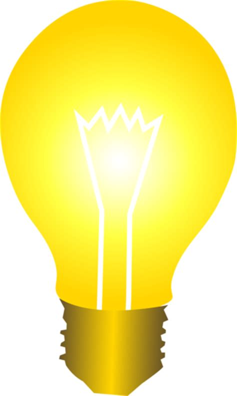 lights clipart free clip of a light bulb glowing with golden light