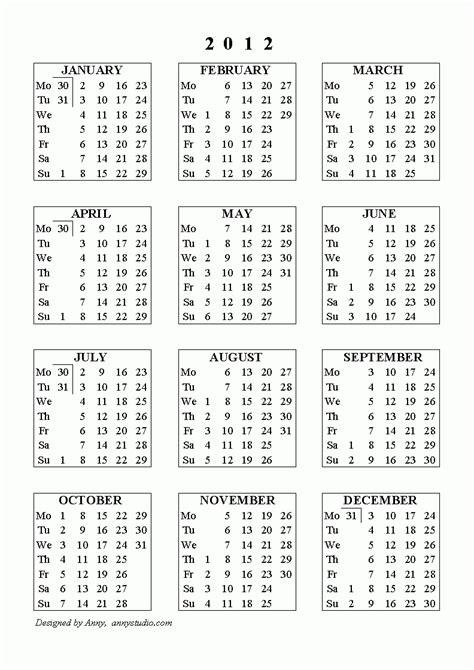 calendar  week numbers   ten  printable calendar