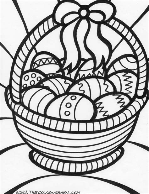 Easter Coloring Pages Free Large Images Coloring Pages For Easter