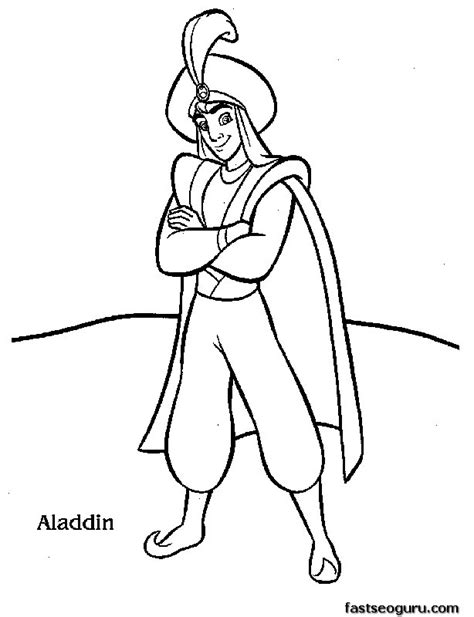 Print Out Disney Characters Aladdin Coloring Page Print Out Coloring Pages Disney