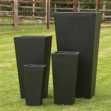 Outdoor Square Planters by Garden Feature Co 4 Fibre Clay Square Square Planters