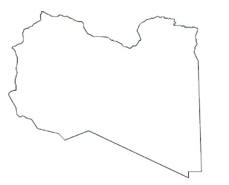 Libya Map Outline by Map Of Libya Terrain Area And Outline Maps Of Libya Countryreports
