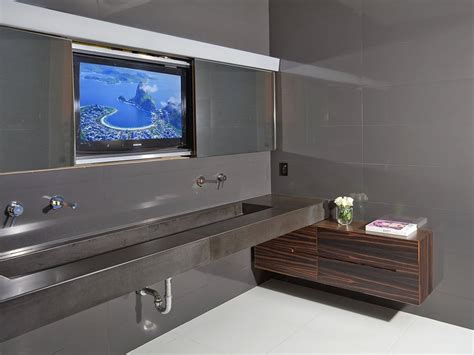 bathroom television flawless design contemporary luxury home in beverly hills