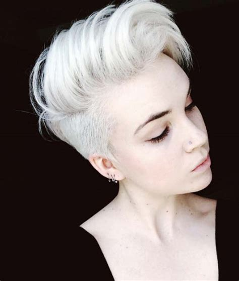 sweet shoulder length flip platinum lace front wig for a flipped up pixie layered flipped up haircuts 40 short