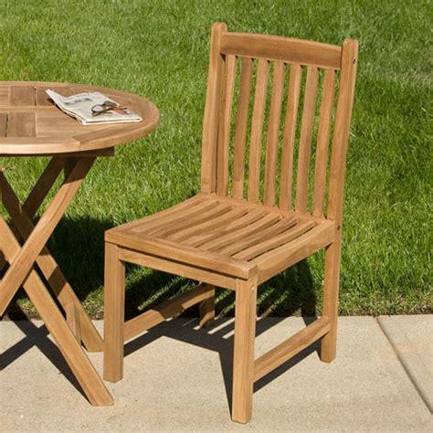 Teak Outdoor Dining Chairs Lilliana Teak Outdoor Dining Chair Outdoor